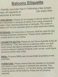 balcony rules