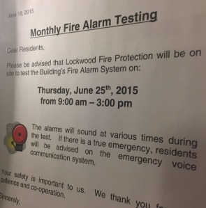 fire alarm test