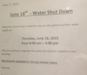 water shut down copy