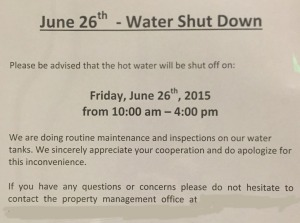 water shut off